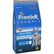 Ração Premier Fórmula Para Cães Adultos Raças Médias Sabor Frango 15kg -
