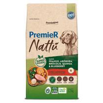 Ração Premier Nattu Cães Adultos Frango e Abobora 12kg -