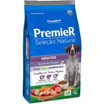 Ração Premier Seleção Natural Para Cãe Adultos de Raças Pequenas Sabor Batata Doce 12 Kg -