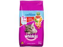 Ração Premium para Gato Castrado Whiskas Adulto - Carne 3kg