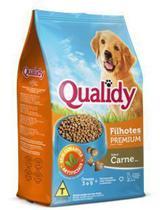 Ração Qualidy Cães Filhotes Premium - Carne - -900g -