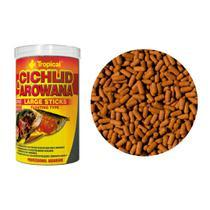 Ração Tropical Cichlid & Arowana Large Sticks Pote 75g -