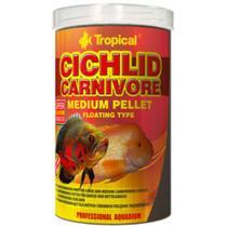 Ração Tropical Cichlid Carnivore Medium Pellet 180g -