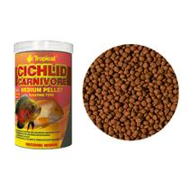 Ração Tropical Cichlid Carnivore Medium Pellet Pote 180g -