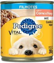 Ração Úmida Cachorros Pedigree Lata Patê Carne E Frango 280g -