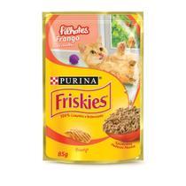 Ração Úmida Nestlé Purina Friskies Sachê Frango Ao Molho Para Gatos Filhotes - 85 G -