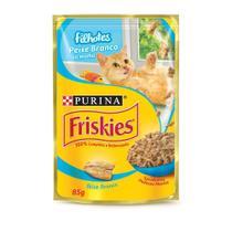 Ração Úmida Nestlé Purina Friskies Sachê Peixe Ao Molho Para Gatos Filhotes - 85 G -