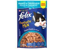 Ração Úmida para Gato Adulto Sachê Felix - Fantastic Mix Frango e Caranguejo 85g -