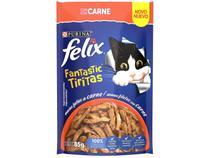 Ração Úmida para Gato Adulto Sachê Felix - Fantastic Tiritas Carne 85g