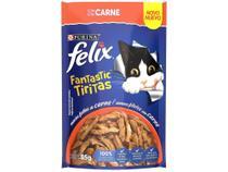 Ração Úmida para Gato Adulto Sachê Felix - Fantastic Tiritas Carne 85g -