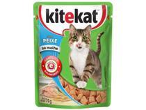 Ração Úmida para Gato Adulto Sachê Kitekat - Peixe ao Molho 70g -