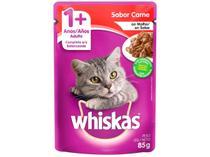Ração Úmida para Gato Adulto Sachê - Whiskas Carne ao Molho 85g