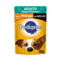 Ração Úmida Pedigree Cães Adultos +7 Anos Sachê Carne 100g -