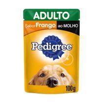 Ração Úmida Pedigree Cães Adultos Sachê Frango ao Molho 100g -
