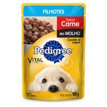 Ração Úmida Pedigree Sachê Sabor Carne Para Cães Filhotes 100g -