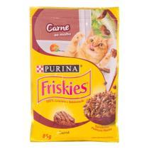 Ração Úmida Purina Friskies Para Gatos Adultos Carne Ao Molho 85G -