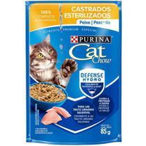 Ração úmida sachê cat chow castrados sabor peixe 85g -