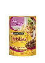 Ração Úmida Sachê Friskies para Gatos Adultos Sabor Mix de Carnes ao Molho 85g -