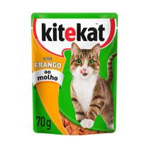 Ração Úmida Sachê Kitekat para Gatos sabor Carne 70g -
