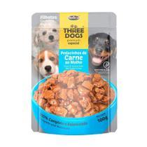 Ração Úmida Sachê Three Dog para Cães Filhotes Sabor Carne 100g - Three Dogs