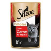 Ração Úmida Sheba Sachê Cortes Selecionados Sabor Carne ao Molho Para Gatos Filhotes 85 g -