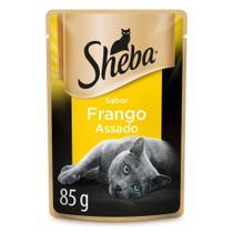 Ração Úmida Sheba Sachê Cortes Selecionados Sabor Frango Assado Para Gatos Adultos 85 g -