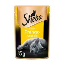 Ração Úmida Sheba Sachê para Gatos Adultos Sabor Frango 85g -