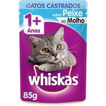 Ração Úmida Whiskas Peixe ao Molho Gatos Adultos Castrados 85g - Pedigree