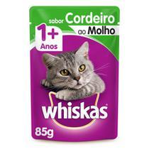 Ração Úmida Whiskas Sachê Cordeiro ao Molho para Gatos Adultos 85 g -