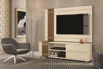 Rack Bancada com Painel para TV Orion Off White / Carv. Munique - Mobler -