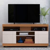 Rack Bancada para TV até 50 Polegadas 2 Portas Yara Colibri Natura Real/Off White -
