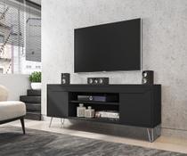 Rack Bancada Para TV Sala Com Pes de Aço Chanel - Moveis Bechara