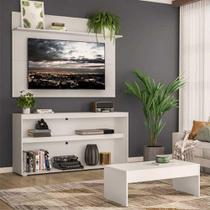 """Rack c/ Painel TV 55"""" com Mesa de Centro Atualle Plus Multimóveis Branco -"""