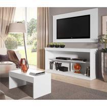 Rack c/Painel TV até 47 Pol Mesa Centro Inovare Multimóveis Branco Acetinado -