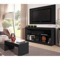 Rack c/Painel TV até 47 Pol Mesa Centro Inovare Multimóveis Preto Acetinado -
