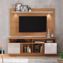 Rack com Painel Home para TV até 65 Polegadas com LED Itapuã Colibri Móveis Natural Real/Off White -