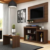 Rack Com Painel Para TV 47 Pol Trevalla Atenas E Mesa De Centro -