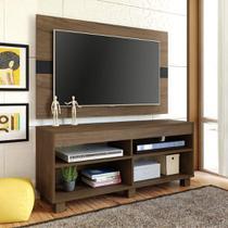 Rack com Painel para TV 47 Polegadas Cross 120 cm Amêndoa e Preto - Artely