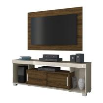 Rack Com Painel Para TV 50 Polegadas Pierre Off White Savana Madetec
