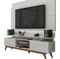 Rack com Painel Para TV 55 Polegadas Branco Classic +2G 1.8 com LED - Imcal Móveis -