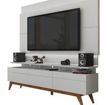 Rack com Painel Para TV 55 Polegadas Branco Classic +3G 1.8 com LED - Imcal Móveis -