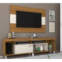 Rack Com Painel Para TV 55 Polegadas Tomaz Naturale Off White Madetec
