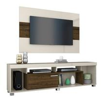 Rack Com Painel Para TV 55 Polegadas Tomaz Off White Savana Madetec