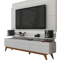 Rack com Painel Para TV 60 Polegadas Branco Classic +3G 2.2 com LED - Imcal Móveis -