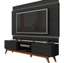 Rack com Painel Para TV 60 Polegadas Preto Classic 2G 2.2 com LED - Imcal Móveis -