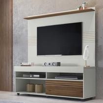 Rack com Painel Para TV 60 Polegadas Samba 1.4 Espresso Móveis Off White/Nogueira -