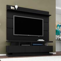 Rack com Painel para TV 65 Polegadas Vivare Preto Acetinado 160 cm - Germai