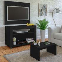Rack com Painel para TV até 32 Polegadas e Mesa de Centro Star Artely Preto -
