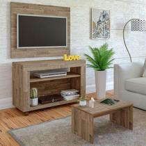 Rack com Painel para TV até 32 Polegadas e Mesa de Centro Star Artely Rústico - Siena móveis