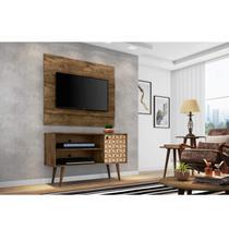 Rack com Painel para TV até 42 Polegadas Jade Madeira Rústica/Madeira 3D - Móveis bechara